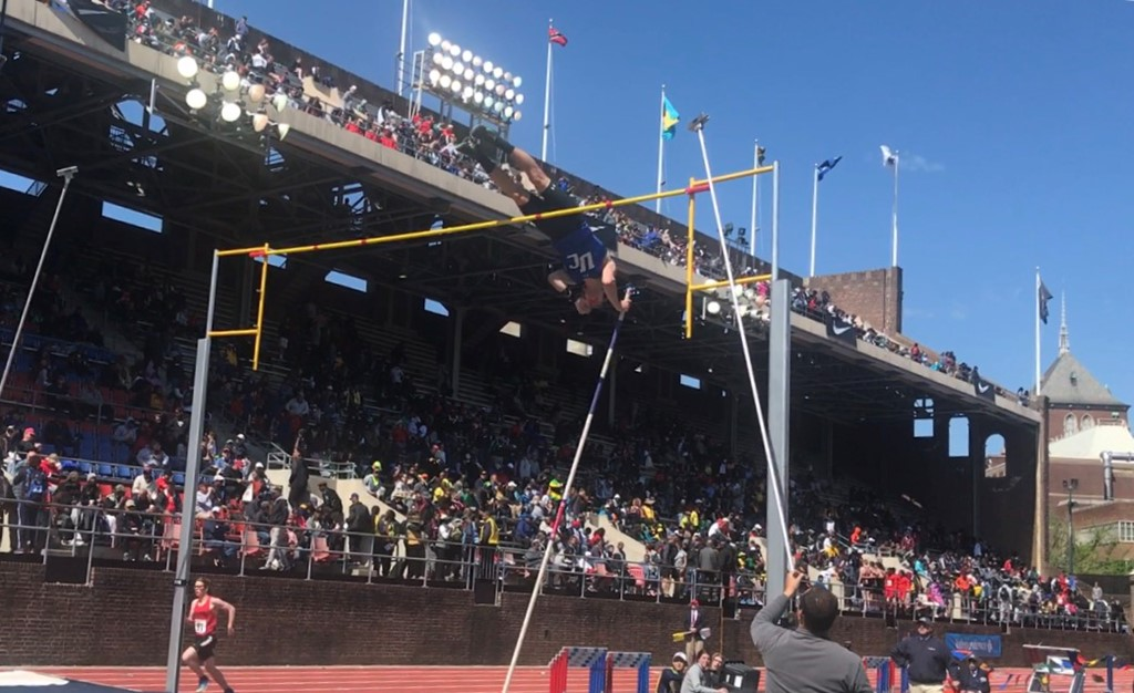 The UC boys ran a very fast 4x400 time and Conor Reilly placed seventh in the pole vault at the Penn Relays
